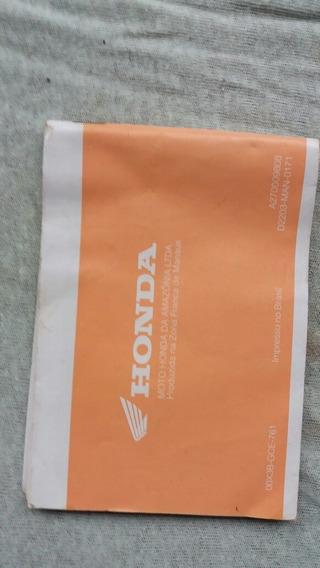 Manual Proprietário Honda C100 Biz 98