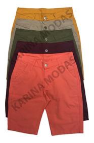 Kit 4 Bermuda Masculina Sarja Jeans Lindas Frete Grátis