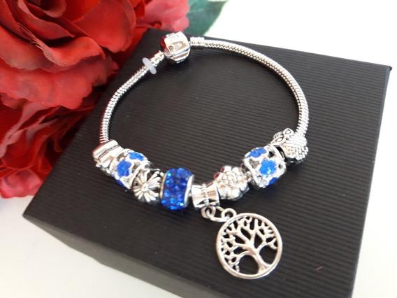 Pulseira Estilo Pandora Azul Royal