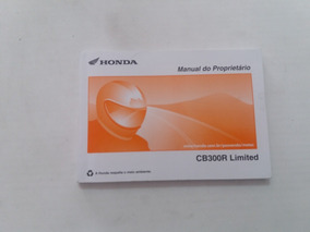 Mg Manual Do Proprietario Honda Cb300r Limited 2014