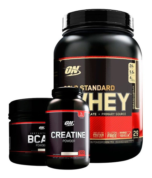 Whey Gold Standard 2lb + Creatina Black + Bcaa Black Optimum