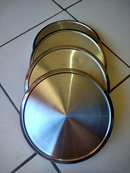 Jogo Calotas Aço Inox Corcel E Belina 1/ Chevette/dodge 1800