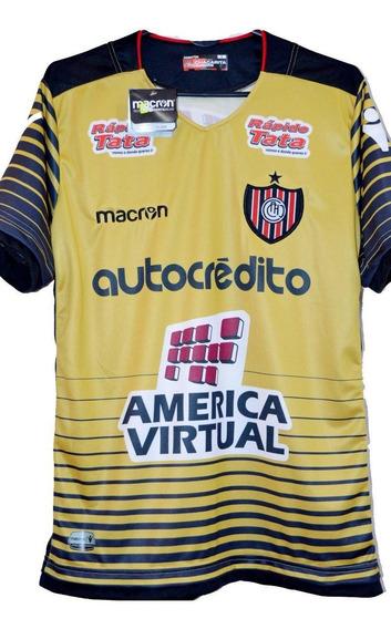 Camiseta Arquero Chacarita Juniors Macron Dorada 2018