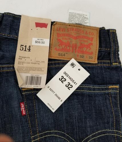 Pantalon Levi 514 Hombre 32 32 Azul Recto Mercado Libre
