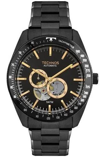 Relógio Technos Masculino Automatico Preto 82s7ac/4p