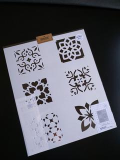 Stencil Azulejo X 6u. En Una Lamina 50x60 Azj600 Piso Pared