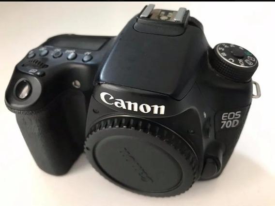 Câmera Dslr Canon 70d Corpo+ Acessórios Originais.