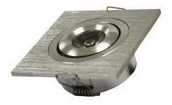 12 Spot Led 1w 12v Aço Escovado Aluminio Escovado