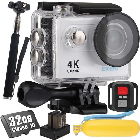 Câmera Eken H9r 4k + 32gb + Bastão + Flutuante + 2 Baterias