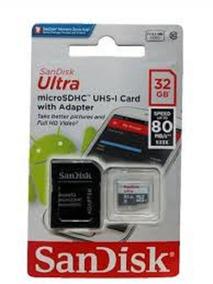 Cartão Micro Sd 32gb Ultra Classe 10 80mb/s Original Lacrado