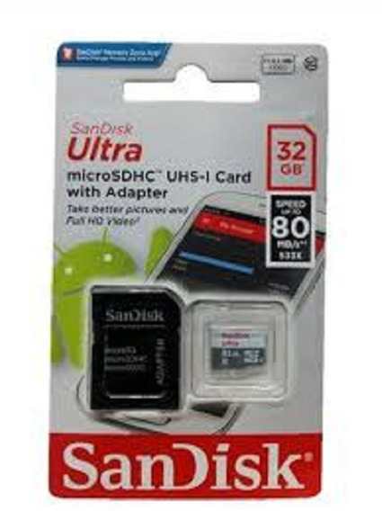 Cartão Micro Sd 32gb Ultra Classe 10 80mb/s Original Lacrado