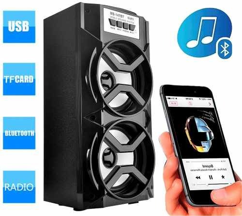 Caixa Som Amplificada Portatil Bluetooth Potente 147bt