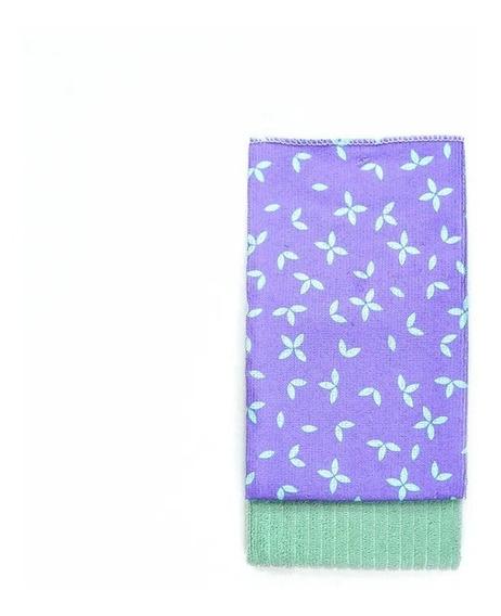 Set Arredo De Repasadores Lisos Y Estampados Verde Claro