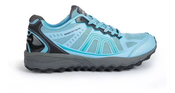 Zapatillas Montagne Trail Extreme Mujer Running Celeste
