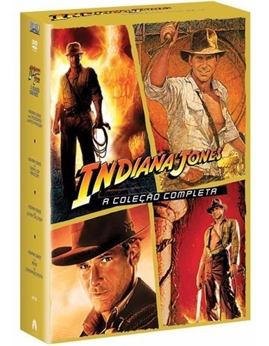 Dvd Indiana Jones 4 Filmes Harrison Original Frete Grátis