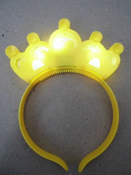 Cintillo Corona Tiara Disfraz Princesas Niñas Luz 3 Verdes