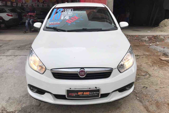Fiat Grand Siena Attractive 1.4 2013 (branco) (flex)