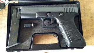 Juguete Glock Policial Gir Gema Goe 9mm Y Funda