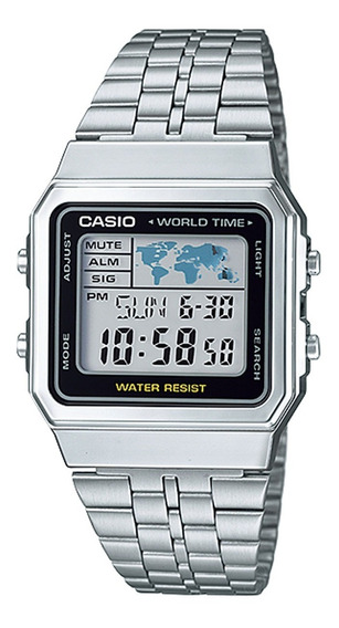 Relógio Casio Original World Time A500wa-1df Com Nota Fiscal