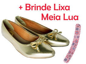 e7b28c961d Sapatilha Bico Fino - Sapatilhas para Feminino Dourado escuro no ...