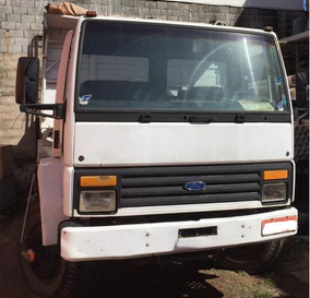 Ford Cargo Turbo 2p Branco Truck 1987 Basculante Bom Estado
