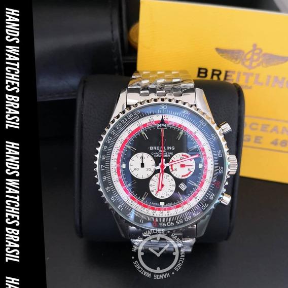 Relógio De Luxo Aço Inox