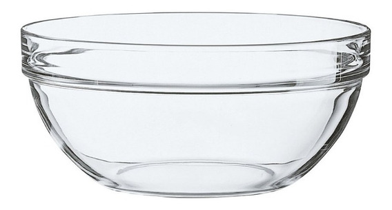 Ensaladera Vidrio 17cm Apilable Luminarc Elegante Resistente