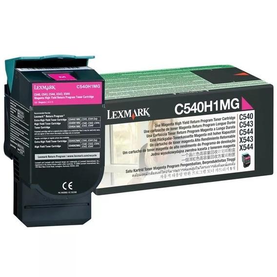Toner Original Lexmark C540 C544 X543 X544 Magenta C540h1mg