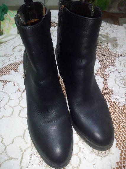Zapatos Botas De Cuero. Marca Sf . Talle 40 Ind Argentina