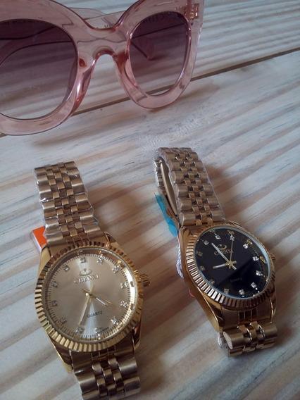 Relógio Feminino Pulso Dourado De Luxo Chenxi
