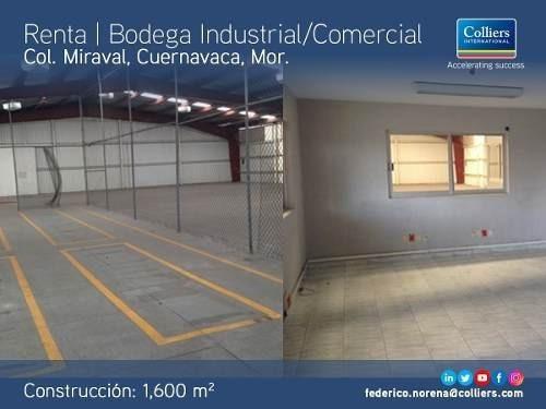 Bodega En Renta/venta, Miraval, Cuer. Mor.