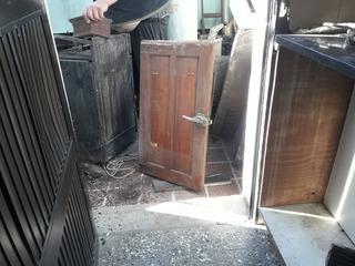 Puertas Grandes Y Chicas Heladera Carnicería De Madera Cedro