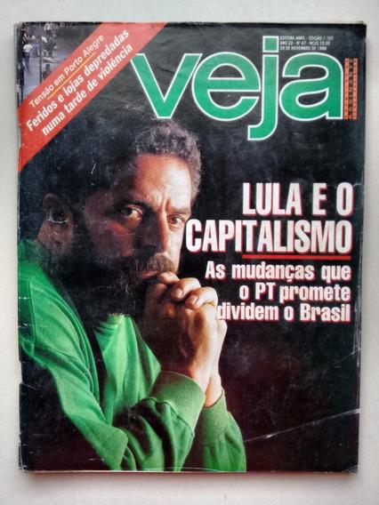 Revista Veja 1107 Lula E O Capitalismo Collor B720