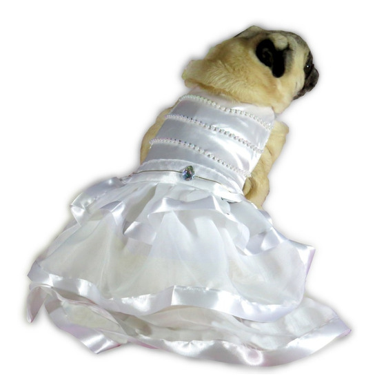 Vestido De Cachorro/ Gato Casamento Noiva Com Véu Luxuoso