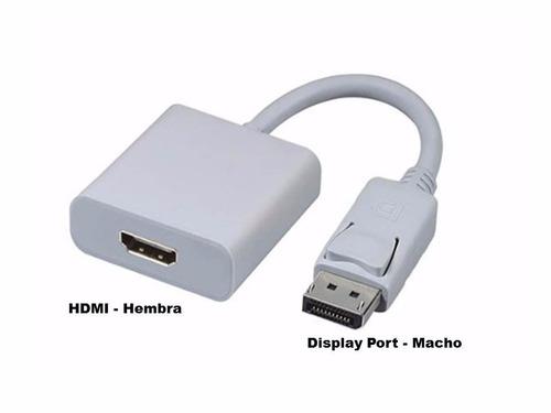 Puntotecno - Adaptador Display Port (dp) A Hdmi Hembra