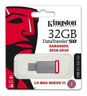 Memoria Usb 3.1 32gb Kingston + Karaokes 2018-2019