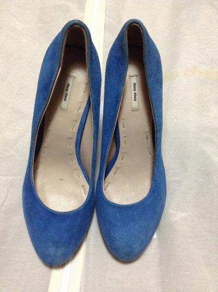 Miu Miu Stilettos Zapatos Cuero Originales