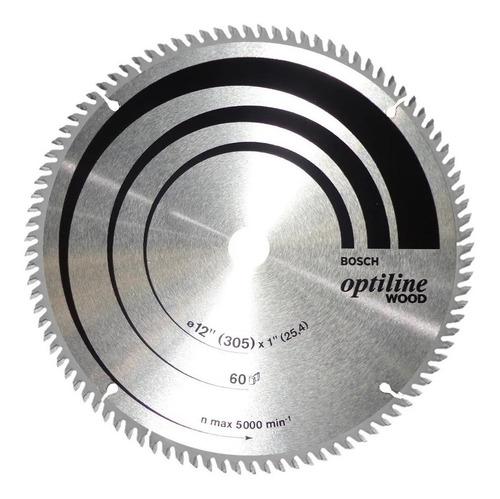 Imagen 1 de 5 de Hoja Sierra Circular Bosch Para Madera 305mm (12 Pul) 60 Die
