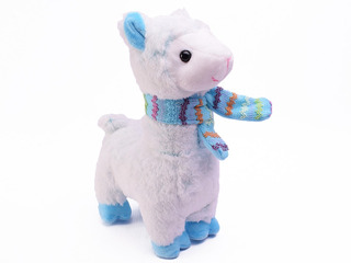 Peluche Llama Rosa Celeste 28 Cm Tiernas Mascota Duende Azul