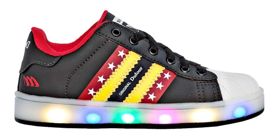 Zapatilla Luces Led Num 26-35 Dufour Art 3568 Divertidas