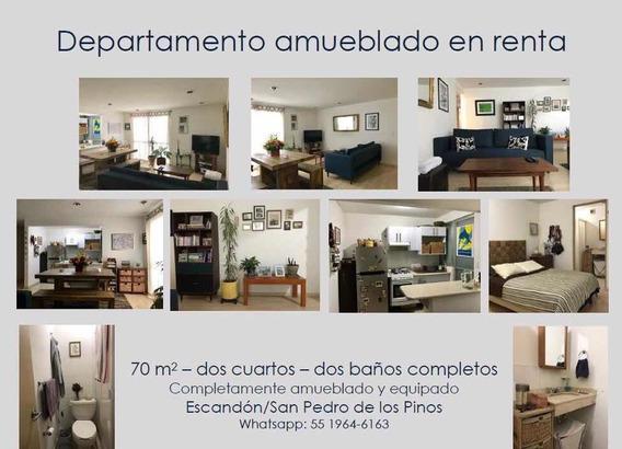 Departamento Amueblado Escandon / San Pedro De Los Pinos