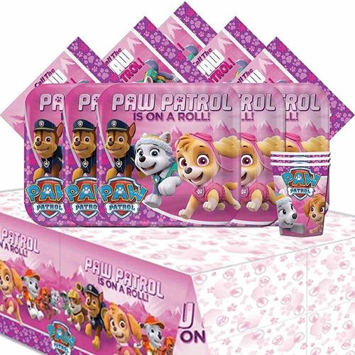 Cumpleaños De Los Niños De Amscan Paw Patrol Pink Girls Paqu