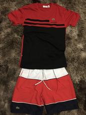 0f7cf23884b85 Conjunto Lacoste Camiseta E Bermuda Lacoste