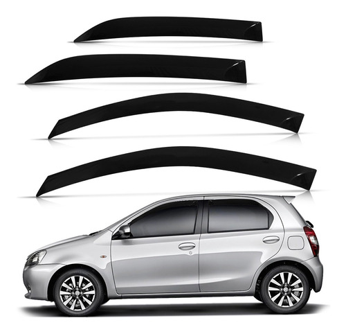 Imagem 1 de 4 de Calha De Chuva Etios Hatch E Sedan 2012 13 14 15 16 4 Portas