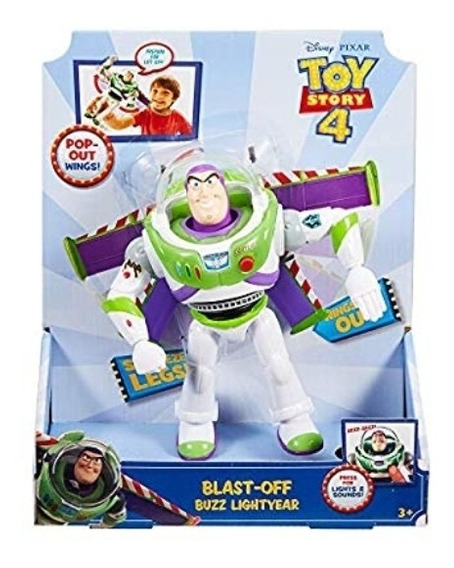 Toy Story Buzz Lightyear Parlante Con Alas Original 25vrds