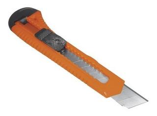 Cutter Profesional Seguro 18mm Plástico Mitzu Mcu-3020 Full