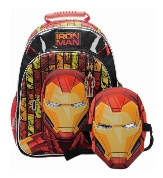 Mochila Espalda Hulk - Iron Man 16 Pulgadas Con Careta!