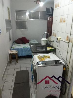 Kitnet Mobiliada, No Itararé Em São Vicente/sp - 2407