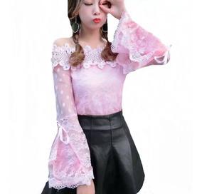 Blusa Camisa Feminina Manga Longa Social Luxo Foto Real