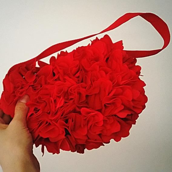 Cartera Rosas Artesanal. Fiesta Noche Mujer Bolsos Pinup